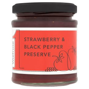 Waitrose1 Strawberry & Black Pepper Preserve