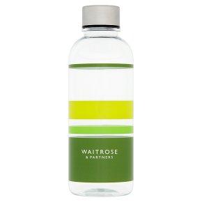 Waitrose Tritan Water Bottle Green Stripe