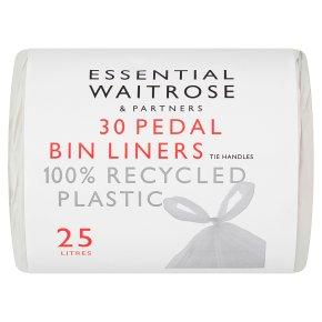 essential Waitrose Pedal Bin Liners Tie Handles