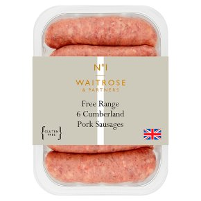 No.1 6 Cumberland Pork Sausages