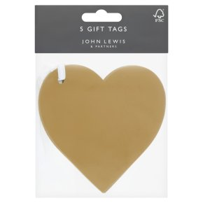 Waitrose Tags Silver/Gold Hearts