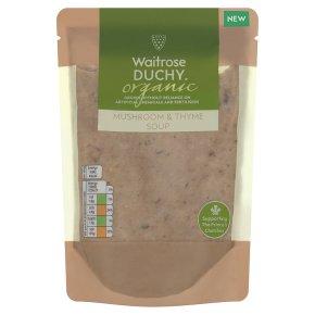 Waitrose Duchy Organic mushroom & thyme soup