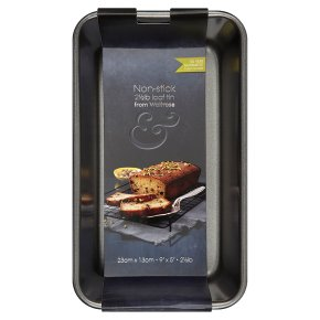 from Waitrose 23cmx13cm non-stick loaf tin