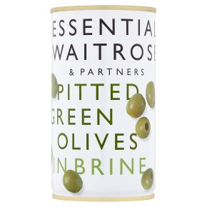 Essential Pitted Green Olives, Brine