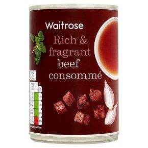 Waitrose beef consomme soup