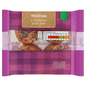 Waitrose 4 Barbecue Pork Pies