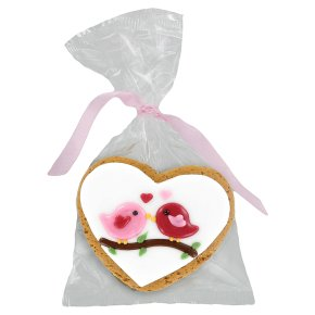 Image on Food Iced Gingerbread Love Birds 35g