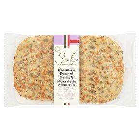 Soli garlic & mozzarella flatbread