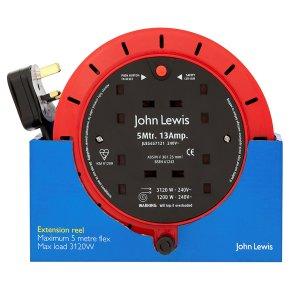 John Lewis 5mtr.13amp. extension reel