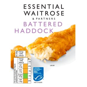 essential Waitrose Battered Haddock