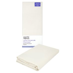 essential Waitrose king size cream fitted sheet