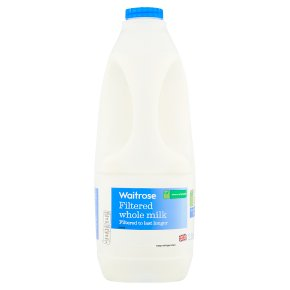 Waitrose Filtered Whole Milk