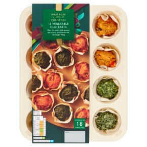 Waitrose Party 12 Mediterranean filo pastry tartlets