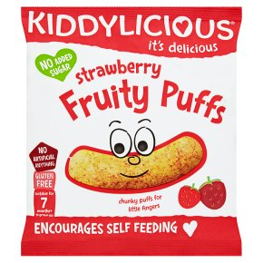 Kiddylicious strawberry fruity puff