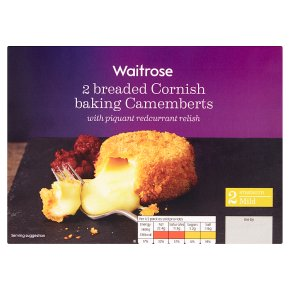 Waitrose 2 breaded Cornish camembert