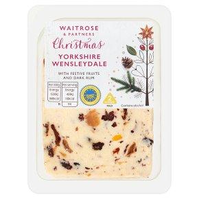Waitrose Christmas Wensleydale with Fruits & Dark Rum