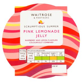 Waitrose Pink Lemonade Jelly