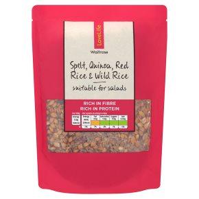 Waitrose LOVE life spelt, quinoa, red rice & wild rice