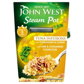 John West Steam Pot tuna infusions coriander & cumin with cous cous