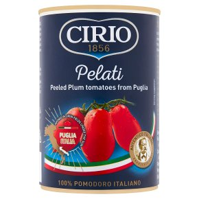Cirio tinned peeled plum tomatoes