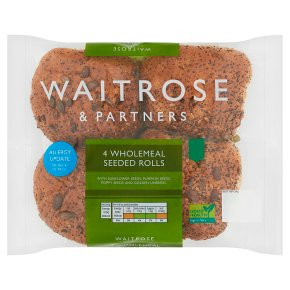 Waitrose Wholemeal Seeded Rolls