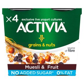 Activia Muesli & Fruit 0% Fat Yogurt