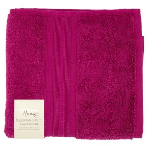 Waitrose Home Egyptian Cotton Hand Towel Raspberry