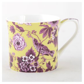 V&A garden birds lime mug