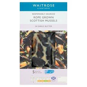 Waitrose Scottish Mussels in Garlic Butter