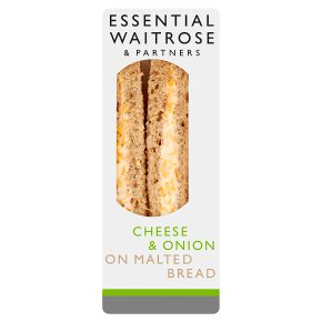 Essential Waitrose cheese & onion sandwich
