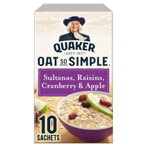Quaker Oats So Simple multigrain fruit sachet porridge
