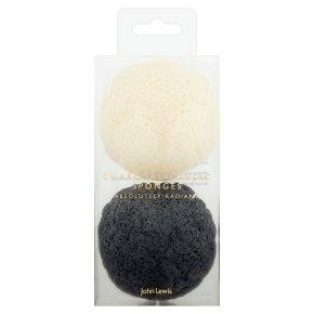 John Lewis Natural & Charcoal Sponges