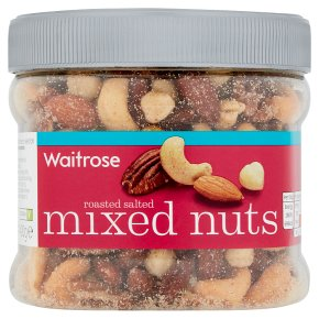 Waitrose roasted and salted mixed nuts tub