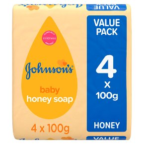 Johnson's honey baby soap
