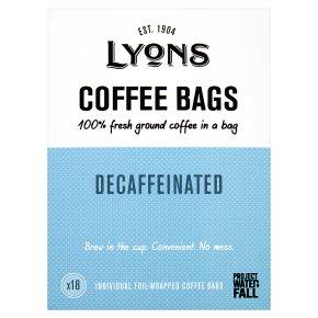 Lyons Coffee Bags Decaffeinated 18s