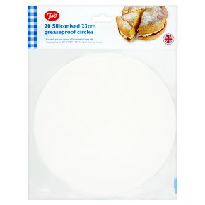 Tala 23cm siliconised greaseproof circles, pack of 20