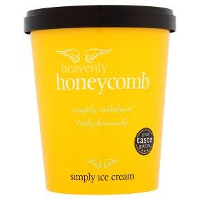 Simply honeycomb crunch ice cream