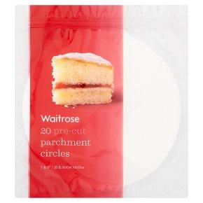 Waitrose 20 Pre-Cut Baking Parchment Circles