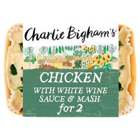Charlie Bigham's chicken with white wine sauce & mash