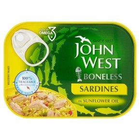 John West boneless sardines in sunflower oil