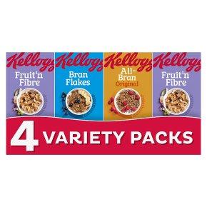 Kellogg's Fibre Cereal Variety 4 Pack
