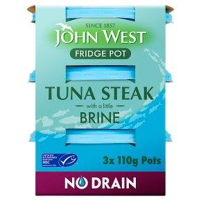 John West MSC No Drain Tuna Steak in Brine