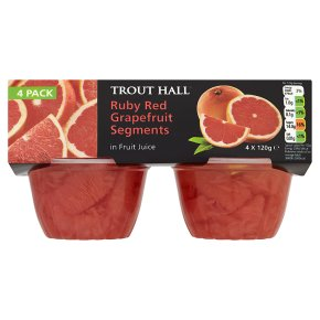 Trout Hall ruby red grapefruit segments in fruit juice