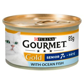 Gourmet Gold Senior Tinned Cat Food Pate With Fish