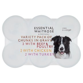 essential Waitrose chunks in gravy, 6 x 400g tins
