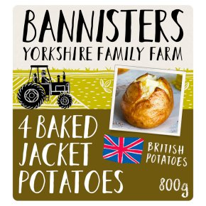 Bannisters Farm 4 Ready Baked Potatoes