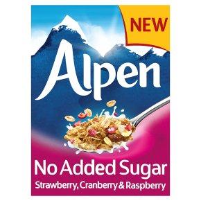 Alpen No Added Sugar Strawberry, Cranberry, Raspberry