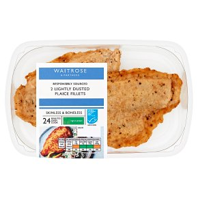 Waitrose Lightly Dusted Plaice