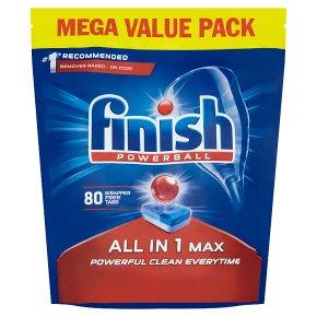 Finish 80 Dishwasher Tabs All in 1 Max Regular