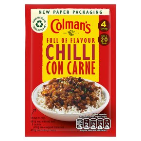 Colman's recipe mix chilli con carne